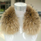 FASHION HOT SALE UNISEX WINTER WARM REAL RACCON FUR DOWN JACKET COLLAR 50*13CM