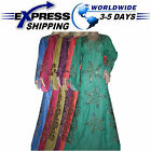 Handmade Syria glossy Abaya embroidery Inlaid beads Kaftan jilbab Dress Eid