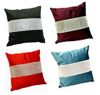 Eclat Glamourous Bling Diamante Cushion Covers - Black Red Silver & More