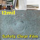 """WIDE:40""""(100CM)/Safety 12Mil Clear Film/Window/Security/Residential/UV/ROLL/Long"""