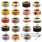 1 Roll DIY Paper Sticky Adhesive Sticker Decorative Washi Tape 10M X 1.5cm New