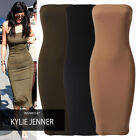 Womens Summer Strapless Bandeau Bodycon Tube Midi Maxi Cocktail Day Ladies Dress