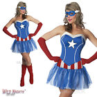 LADIES MISS AMERICAN DREAM DRESS AVENGERS CAPTAIN AMERICA FANCY DRESS COSTUME