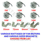 ELCO UNIVERSAL REFRIGERATION CONDENSER FAN MOTORS 5W-34W & BRACKET 55-109mm