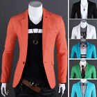 Men Casual Business Slim Fit One Button Front Suit Pop Blazer Coat Jacket Formal