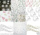Christmas Cellophane Wrap Reindeer Snowflake Floristry Craft Film Hamper Gift