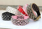 Pet Spiked Studded Leather Small Large Dog Collar Rivet Adjustable Neck Strap