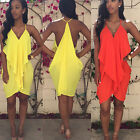 Sexy Women Summer Halter Maxi Evening Beach Chiffon Dress Dress New