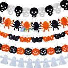 3M Halloween Scary Paper Garland Props Spider Ghost Pumpkin Party Decorations