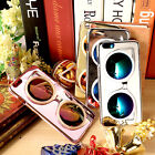 Fashion Reflective Mirrored Cool Sun Glasses Hard Case Cover For iPhone 6/6 Plus