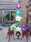 5 x FLOWER BALLOON DECORATION BIRTHDAY PARTY WEDDING DISPLAY AIR FILL NO HELIUM