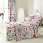 Luxury Vintage Patchwork Double Size Duvet Quilt Cover & Pillowcase Bed Set