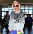New Adidas Originals Rita Ora Grey Oversized Sweatshirt Jumper Sweater XS S