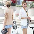Fashion Women Slim Short OL Blazer Coat Long Sleeve Jacket Suit Outerwear S-XXL
