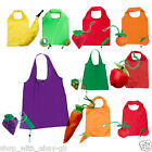 Lightweight Folding Reusable Grocery Fruit Tote Shopping Bag Coloured Eco Lot BN