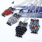 Vintage Owl Charms Womens Chain Pendant Choker Statement Bib Long Necklace New