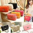 Fashion Korean Style Women Quilted Leather Chain Crossbody Shoulder Bag Handbag