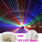 10x Waterproof 10M 100 LED Bulbs Christmas Fairy Party String Lights Decoration