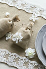 Burlap Lace Table Runner Rustic Winter Wedding Baby Shower Decoration 72 108''
