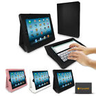 iPAD 2 3 4 STAND AND TYPE FOLIO LEATHER CASE WITH SLEEP SENSOR
