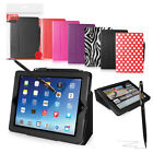 GENUINE ORZLY WALLET STAND CASE WITH SLEEP SENSOR FOR NEW iPAD AIR 2 + STYLUS