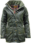 Women's Premium Padded Antique Waxed Cotton Jacket