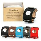 Fauve Style Cuff Genuine Leather Band Strap For Apple Watch 38mm 42mm