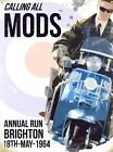 New Calling All Mods Brighton 1964 Annual Run Tin Sign