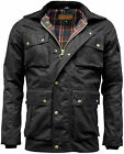 Mens Game Utilitas Waxed Cotton Wax Jacket Utility Muliti Pocket