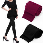 Women Girls Solid Winter Thick Warm Fleece Lined Thermal Stretchy Leggings Pants