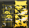 8 ALL WEATHER CORNHOLE BEANBAGS made w University of IOWA Hawkeyes Fabric