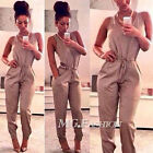 Ladies Womens Summer Long Pants Trousers Casual Playsuit Jumpsuit Romper Overall