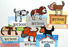 Hot Dogs Bookmarks Clip On Canine Page Markers