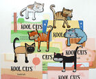 Kool Cats Bookmarks, Feline Clip On Page Markers Cats and Kittens