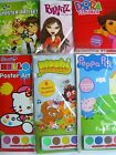 CHARACTER A4 POSTER ART SETS (with 6 Paints){fixed UK p&p}