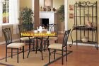Simple Metal Contemporary Dining Chairs upholster furniture set chair