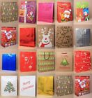 PACK OF ASSORTED LARGE CHRISTMAS XMAS GIFT BAGS: PACK 10, 20, 50  PRESENT
