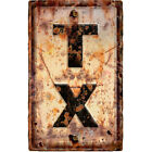 Texas TX State Abbreviation Weathered Wall Decal Highway Decor