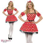 FANCY DRESS COSTUME # LADIES FEVER RED & WHITE MADAME MOUSE SIZE 8-14