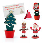 6 x Table Place Setting Name Card Holder Christmas Tree Santa Party Decoration