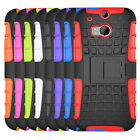 For HTC One M8 Case Tough Dual Layer Hybrid Armor Kickstand Protective Cover