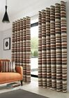 Richmond Stripe Designer Woven Soft Chenille Jacquard Fabric Ready Made Curtains