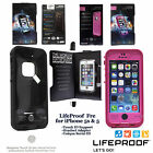 New Authentic LifeProof Fre Waterproof Cases for iPhone 5 5S Touch ID Black Pink