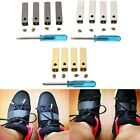 4 PCS Copper Style Aglets Shoe Lace Tips Replacement Screw On +Screwdriver