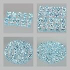 3.5mm Lot 10,20,50,100pcs Round Cut Accent Stone Natural Sky Blue TOPAZ