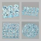 4mm Lot 6,10,20,50pcs Round Cut Side Stone Natural Sky Blue TOPAZ