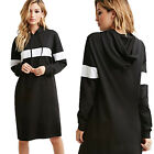 Womens Winter Black Long Sleeve Tops Jumper Dress Party Ladies Casual Dresses