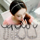 Woemn Pearl Crystal Rhinestone Headband Elastic Stretch Wedding Hair accessories