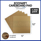 """1-200 """"EcoSwift"""" Corrugated Cardboard Pad Filler Insert 32 ECT 1 8 Thick 12 x 12"""