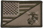 USMC Artillery USA Flag 2.25 x 3.5 inch Morale Patch Military w/ Fastener
